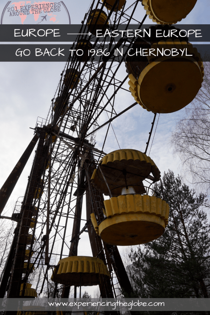 Visit Chernobyl to travel back in time to 1986 and witness the USSR in the 21st century #Chernobyl #Ukraine #OffTheBeatenPath #Wanderlust #TravelPhotography #Backpacking #Adventures #TravelExperience #BeautifulDestinations