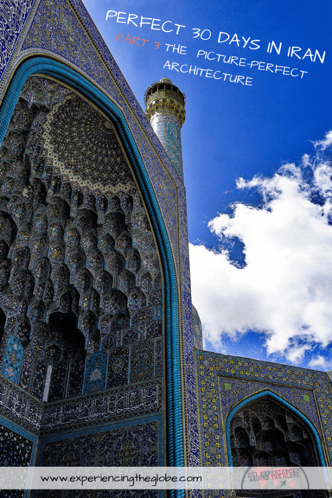 This country is so diverse that it has something for every type of traveler, no matter what interests you. But the main tourist attractions, Iran bucket list places, have to be Isfahan and Shiraz. The architecture is stunning, the kind that leaves you speechless – Experiencing the Globe #BestPlacesToVisitInIran #IranBucketList #IranArchitecture #MiddleEast #Iran #Shiraz #Isfahan #Persepolis #VarzanehDesert #Wanderlust #TravelPhotography #BucketList #SlowTravel #Backpacking