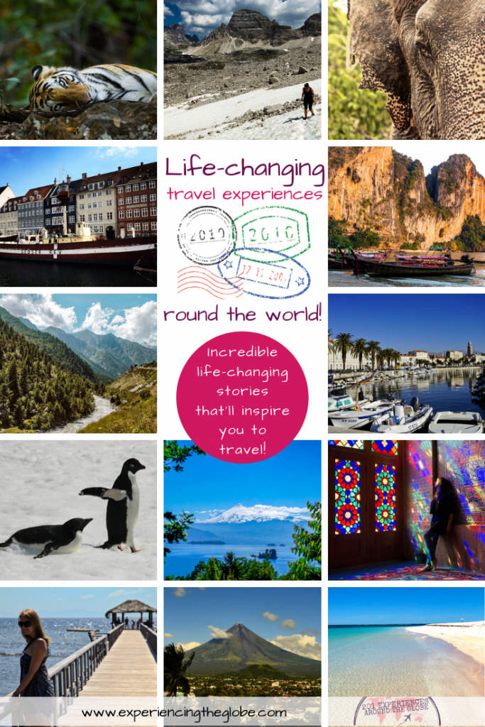Get inspiration from travelers' tales. Submerge into these life-changing travel experience stories, beautiful tales of how a trip can alter the trajectory of your life – Experiencing the Globe #LifeChanching #TravelExperiences #Wanderlust #WhyTravel #IndependentTravel #SoloFemaleTravel #BucketList #Adventures #SustainableTravel #SustainableTourism