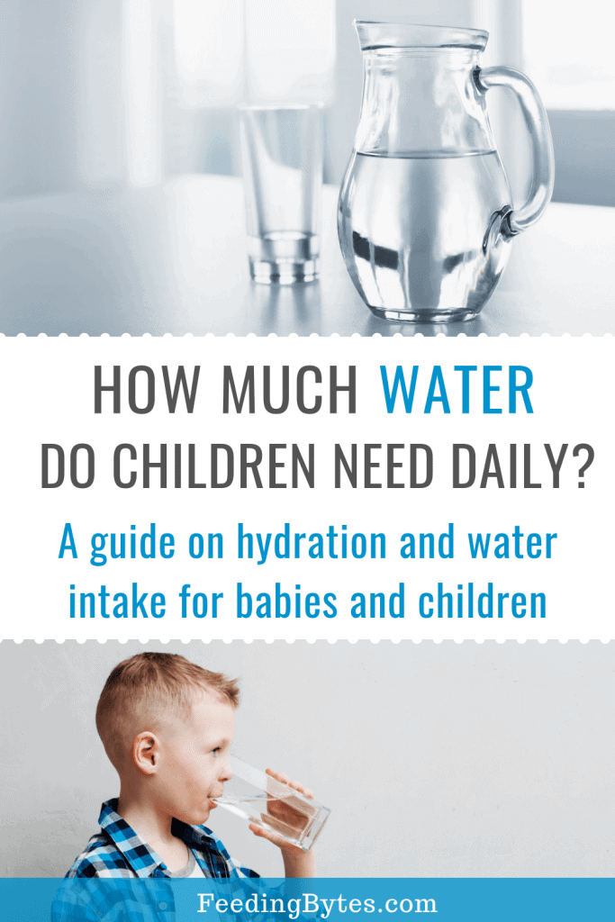 how much water do babies and children need?
