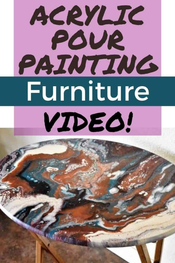 Acrylic Paint Pouring Furniture Video