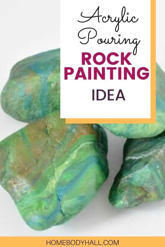 Acrylic Pouring Rock Painting Idea