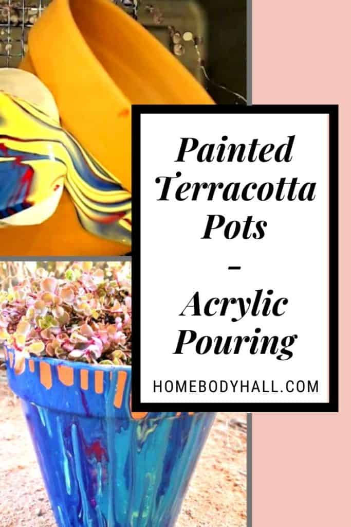 Painted Terracotta Pots Acrylic Pouring