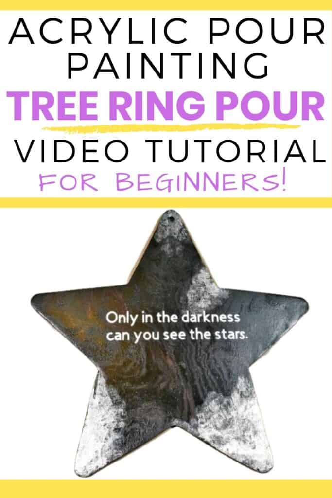 Acrylic Pour Painting Tree Ring Pour Video Tutorial for Beginners