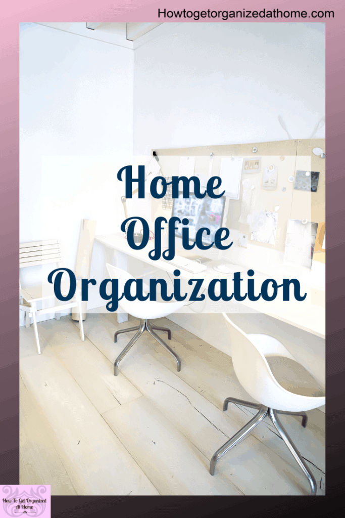 These simple tips and ideas will transform your home office in no time. You will have an organized space that you can use and functions for your family. Click the link to read more. #home #homeoffice #organize