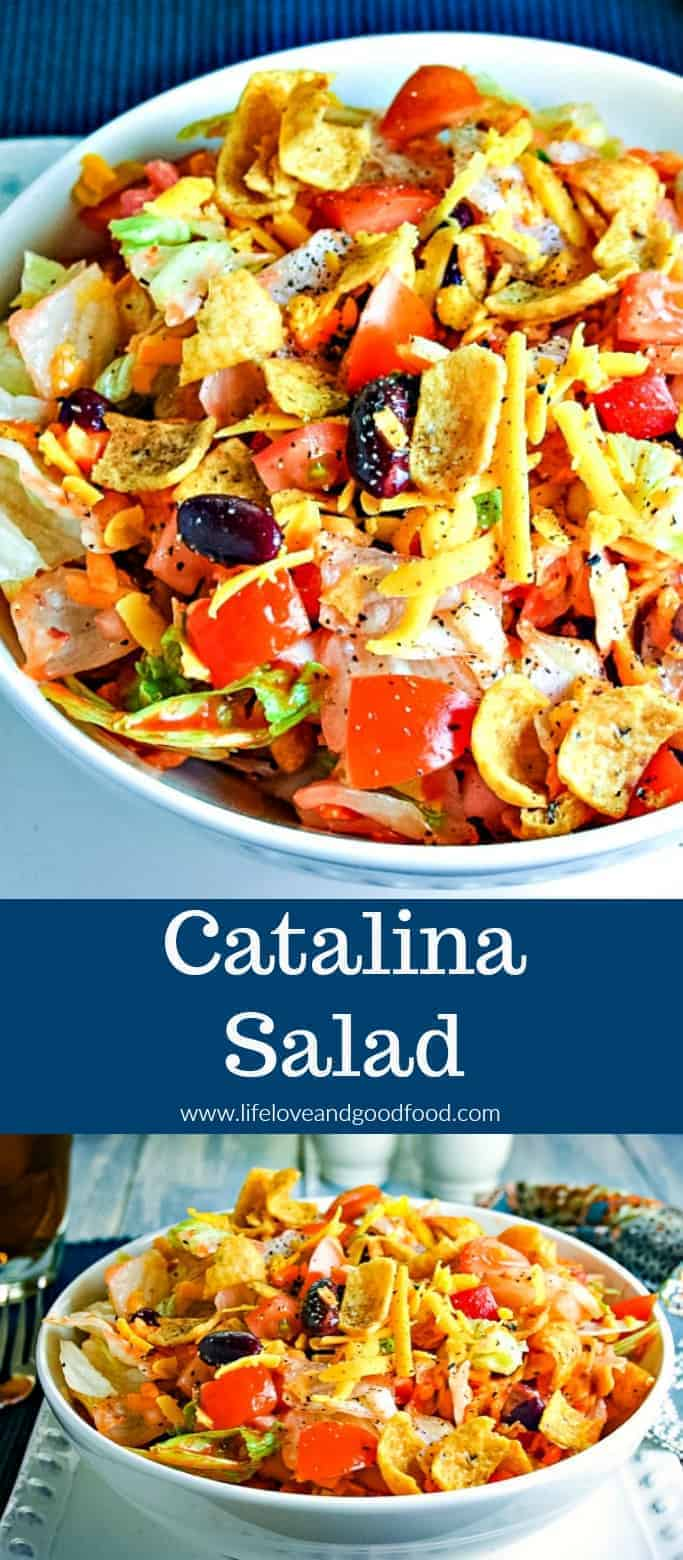 Catalina Salad with FRITOS® corn chips and Kraft Catalina salad dressing is a big hit at every pot luck or picnic! #salad #easyrecipe