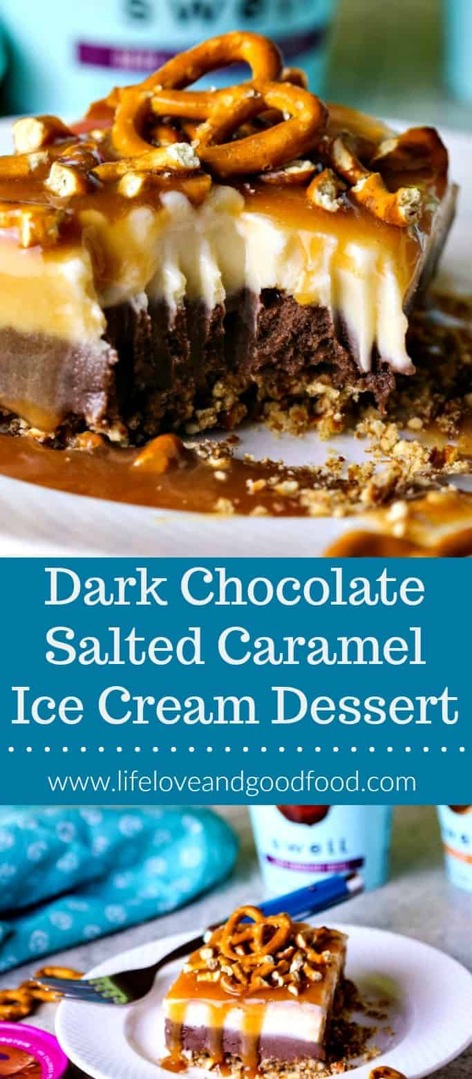 Dark Chocolate Salted Caramel Ice Cream Dessert made with Swell, The Next Wave of Ice Cream! @swell.foods #thenextwave #ad #icecreammonth #proteinicecream #thenextwave #ad #icecreammonth #proteinicecream #recipe
