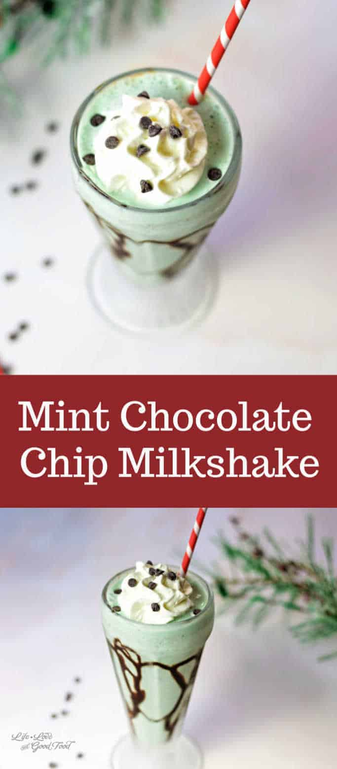 Mint Chocolate Chip Milkshake. This EASY milkshake recipe is made with mint chocolate chip ice cream and Creme de Menthe & served in a chocolate-drizzled glass with even more whipped cream.