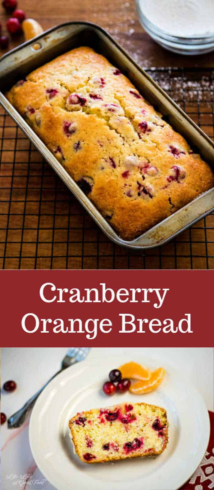 Use sweet oranges and tart cranberries for a bit of freshness in this moist and delicious Cranberry Orange Bread topped with a zesty orange glaze. This easy quick bread recipe is fantastic for breakfast or brunch, or even served as a coffee break snack.