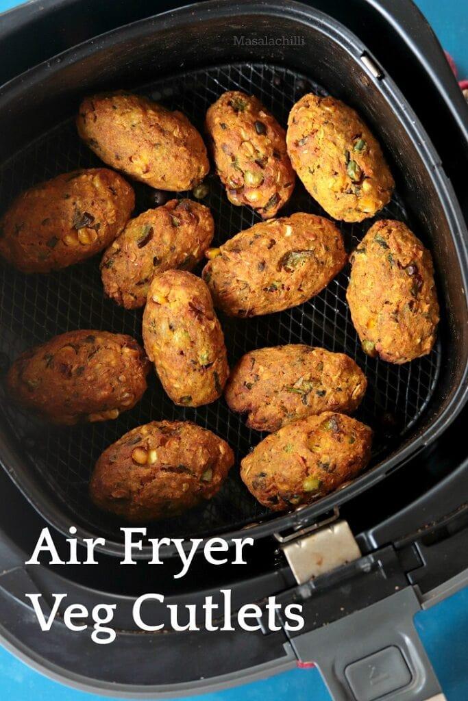 Veg Cutlets in Air Fryer