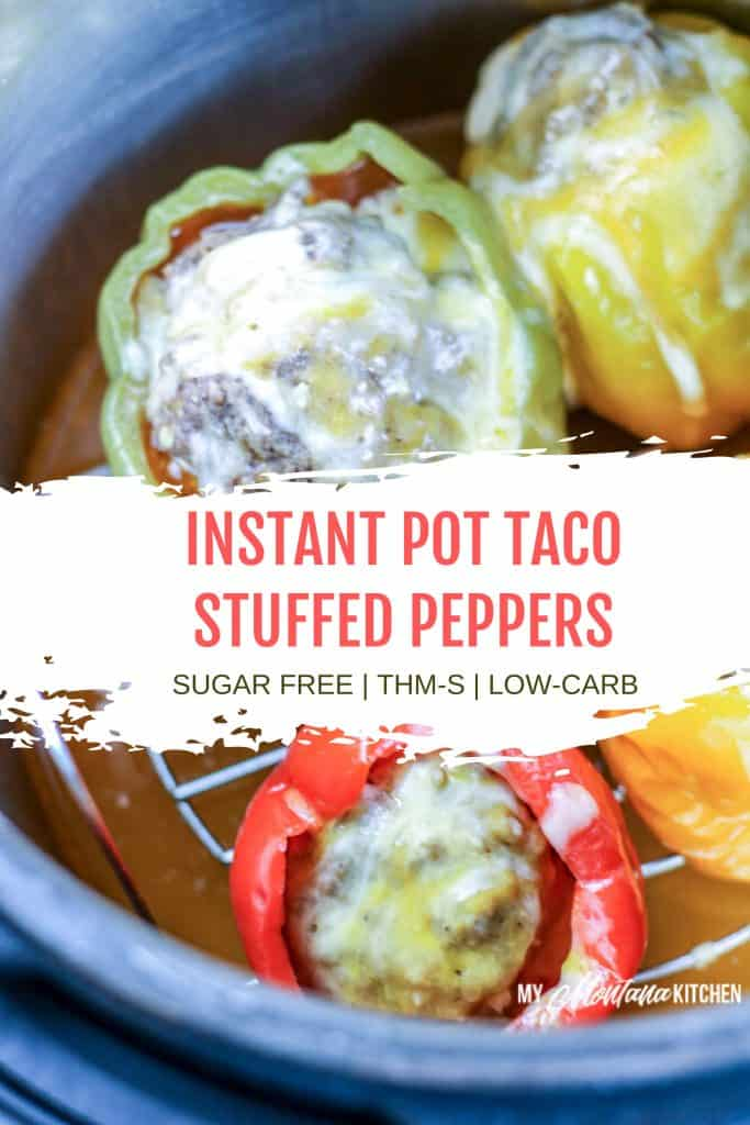colored stuffed peppers in instant pot