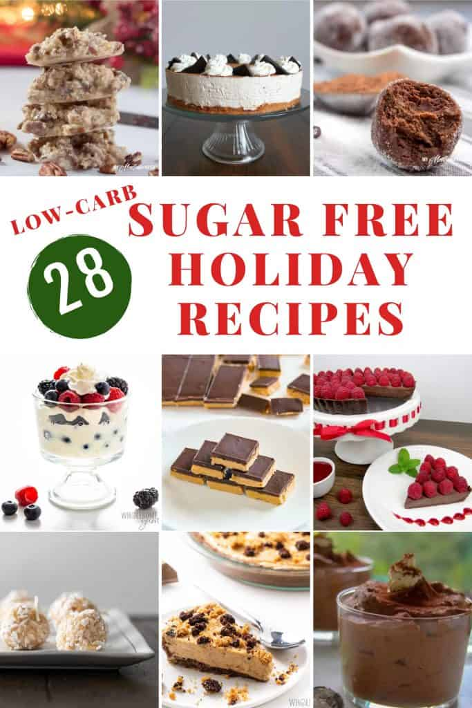 collage of sugar free recipes