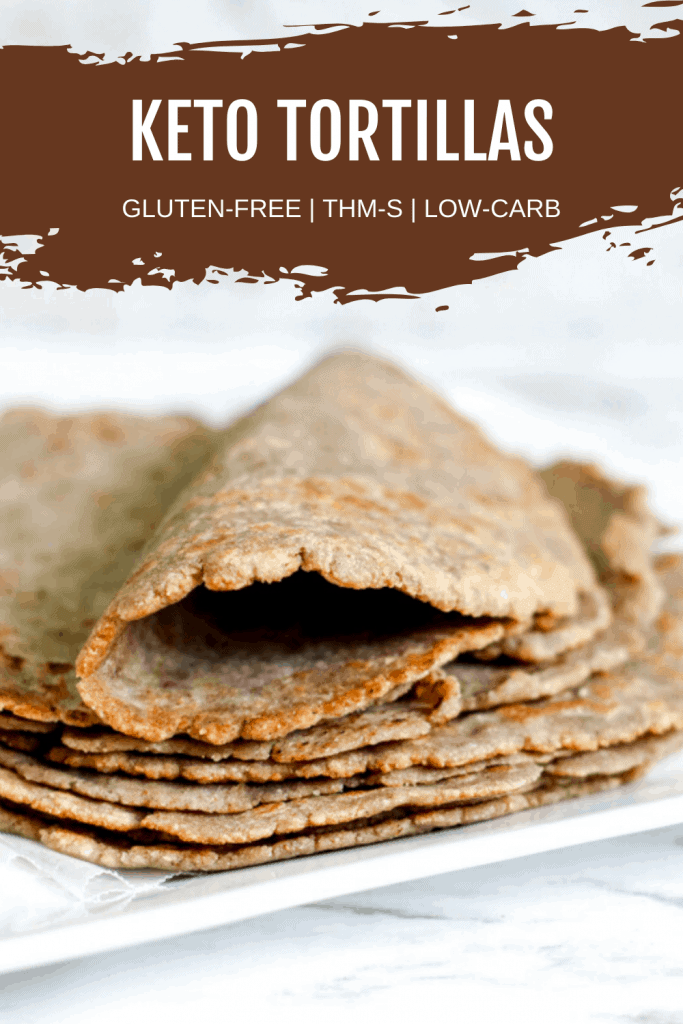 Pin image for keto tortillas