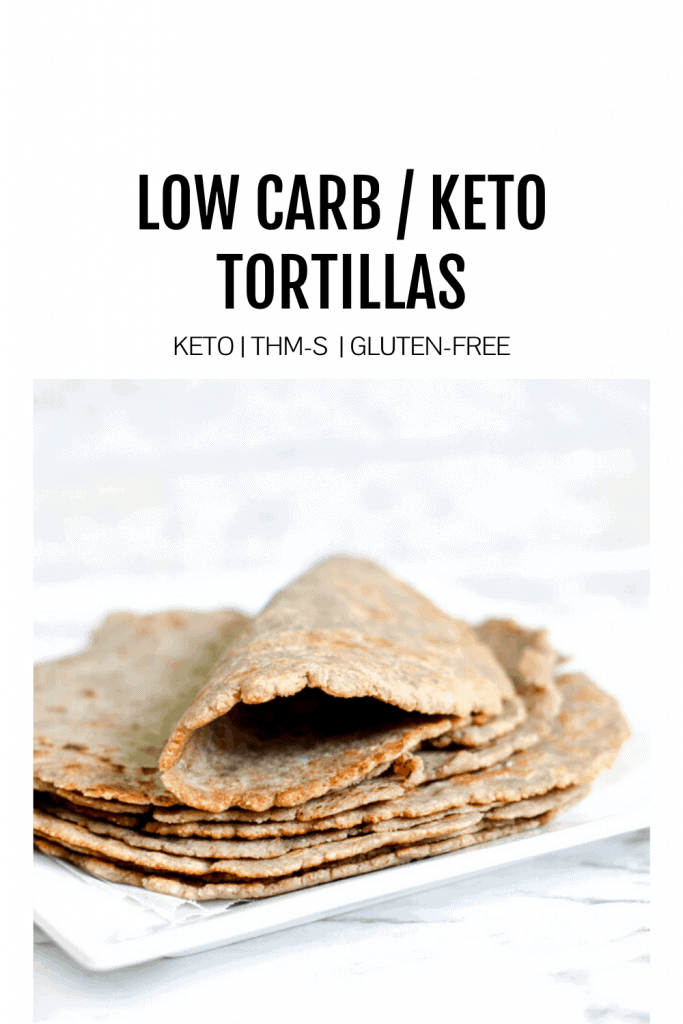 image of low-carb tortillas with the title low carb/keto tortillas