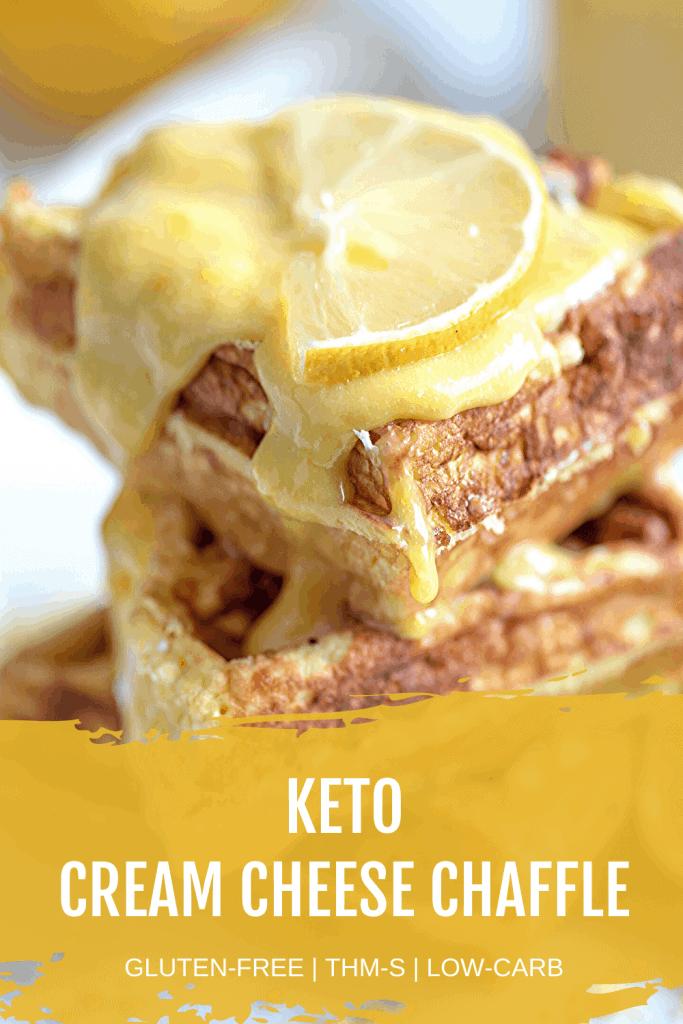 Keto Cream Cheese Chaffle Pin Image