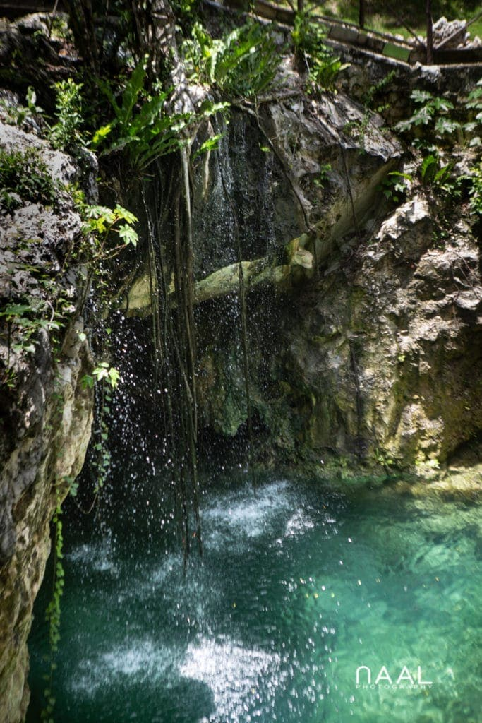 Exclusive cenote with waterfalls for intimate weddings, Naal Wedding Photography