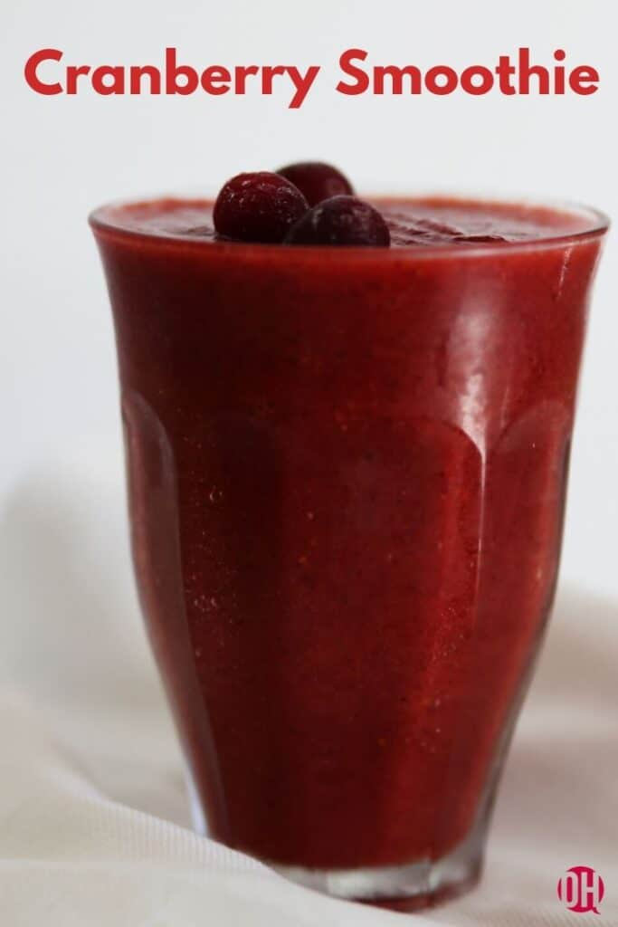 cranberry smoothie in glass