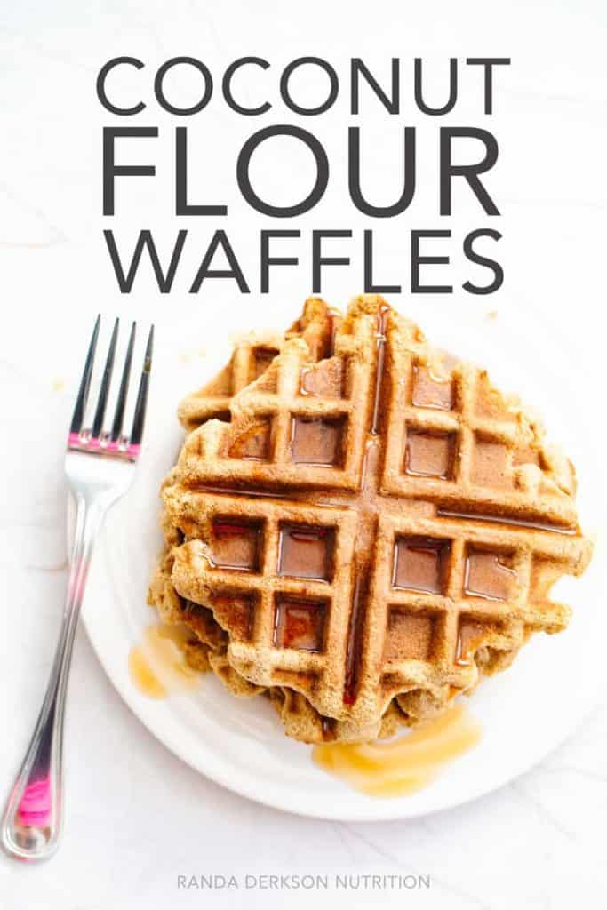 coconut flour waffles with maple syrup