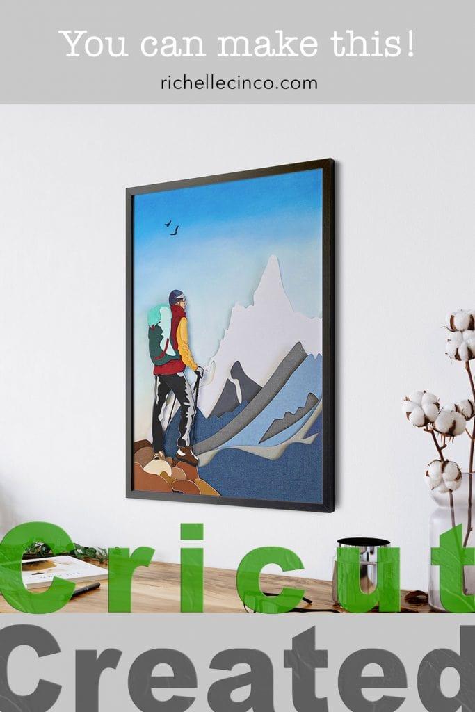 The Hiker Paper Art Image