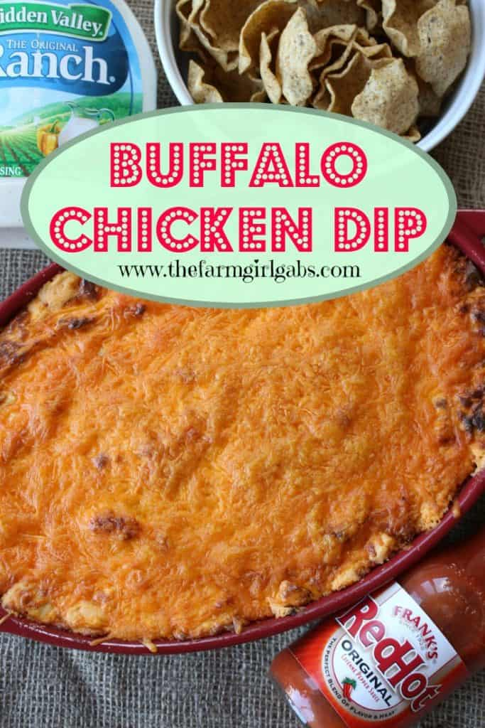 For game day or any day, this Buffalo Chicken Dip recipe is a real crowd pleaser. It's warm, creamy, and loaded with cheese, chicken, and wing sauce, this decadent appetizer is perfect for parties or ideal for game day tailgating! #buffalochickendip #tailgaterecipe #dip