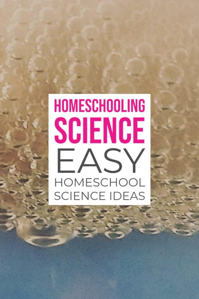 Homeschooling Science Easy Homeschool Science Ideas (1)