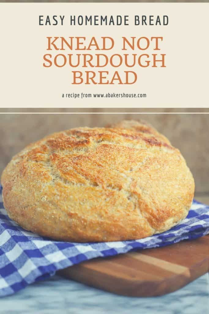 Pin photo for Knead Not Sourdough Bread