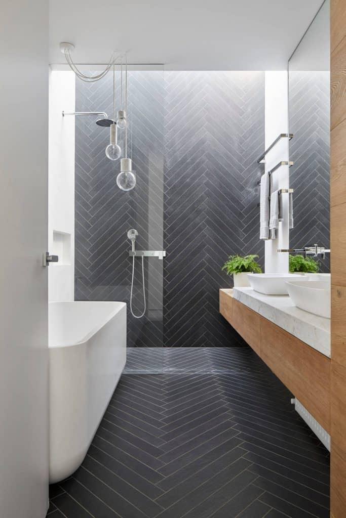 black bathroom idea