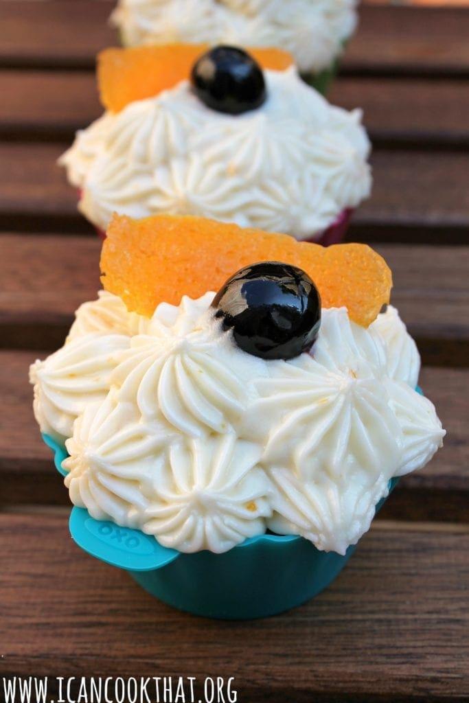 Old Fashioned Cupcakes- Vanilla-Orange Cupcakes with Bourbon-Orange Cream Cheese Frosting