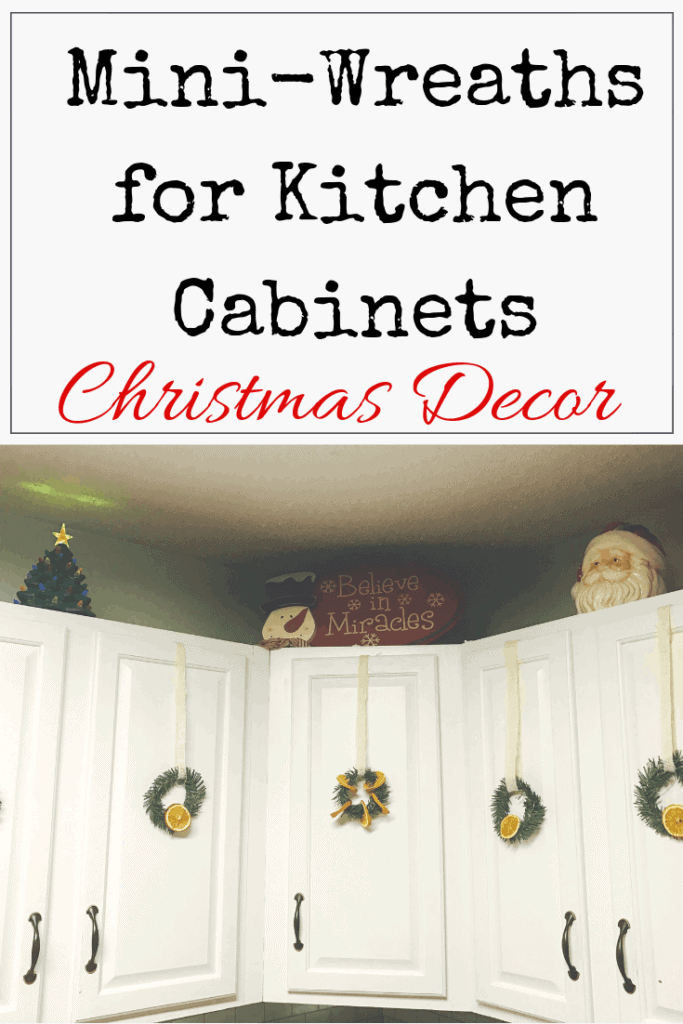 DIY Mini Wreaths for Kitchen Cabinets