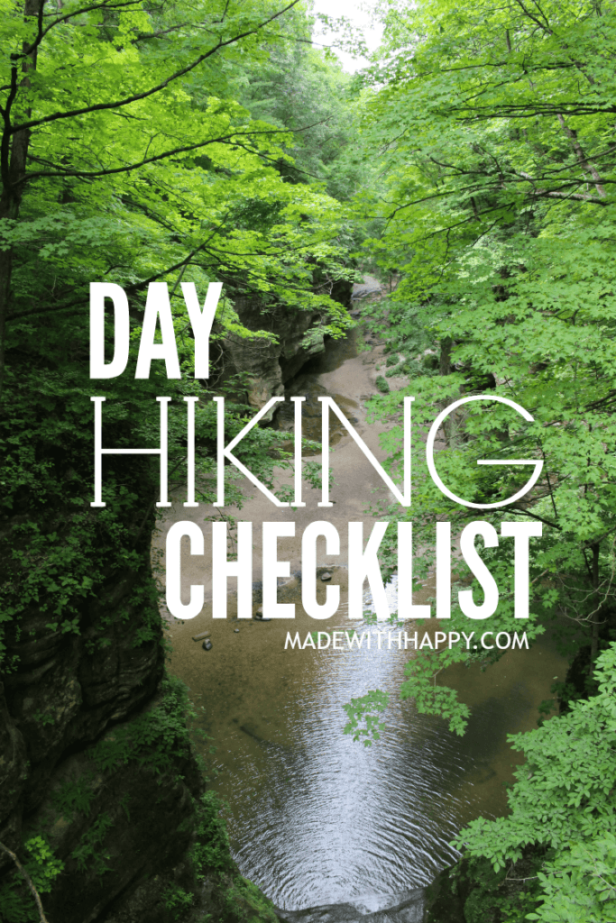 Day Hike Checklist | What to bring when going on a hike | Family Adventure Checklist | www.madewithhAPPY.com