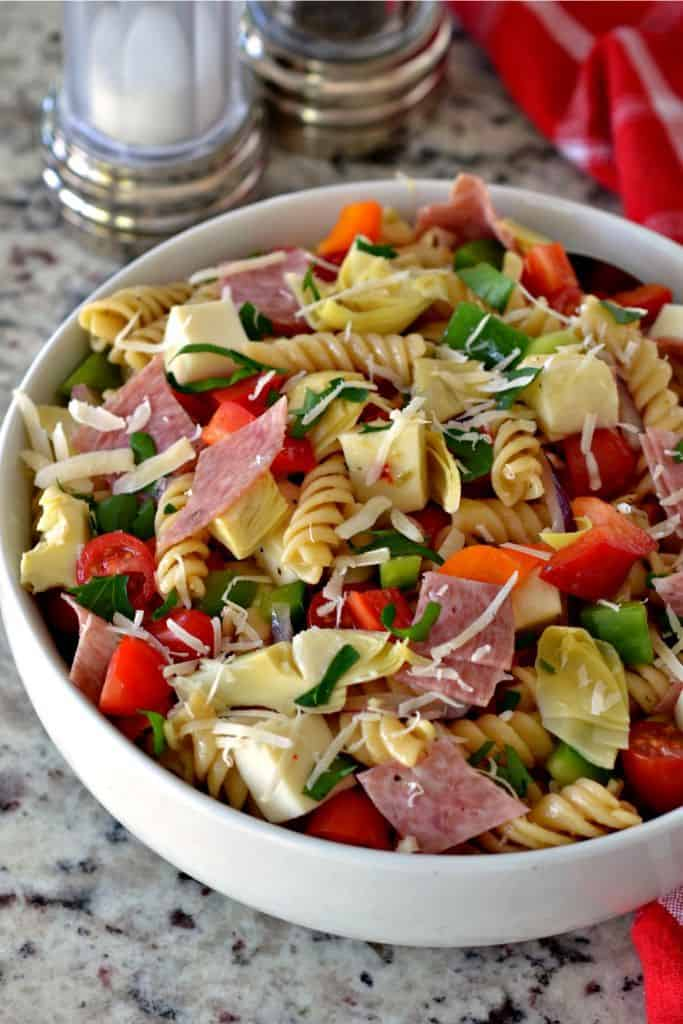 Cold Pasta Salad with Italian Dressing