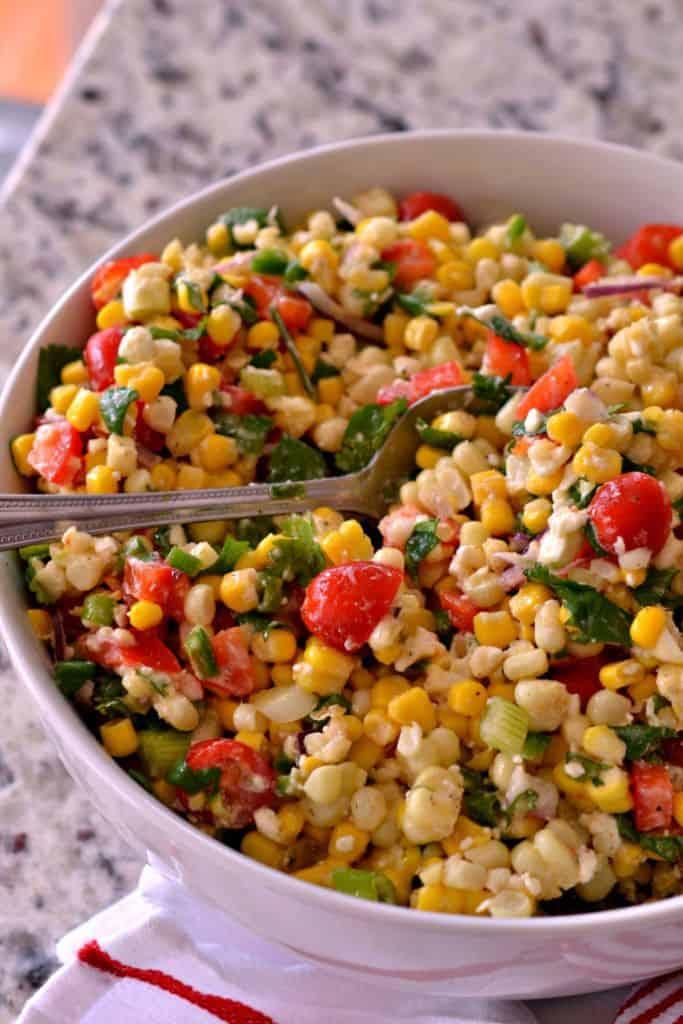 Corn Salad with Easy Lime Vinaigrette | Small Town Woman