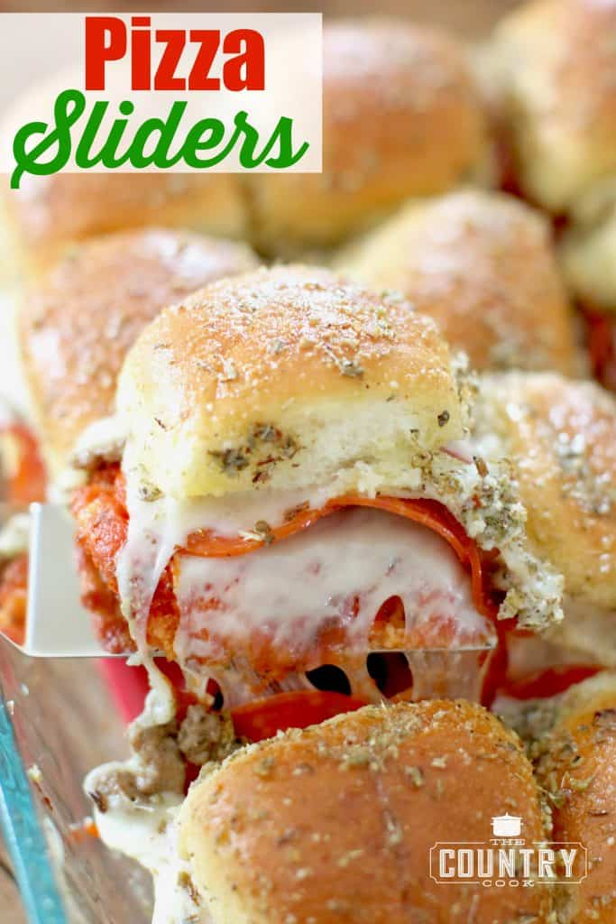 Pizza Sliders recipe from The Country Cook