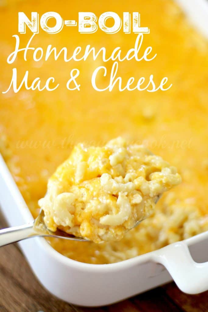 No-Boil Homemade Macaroni & Cheese recipe from The Country Cook