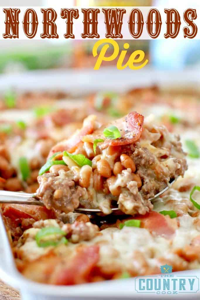 Northwoods Pie recipe from The Country Cook