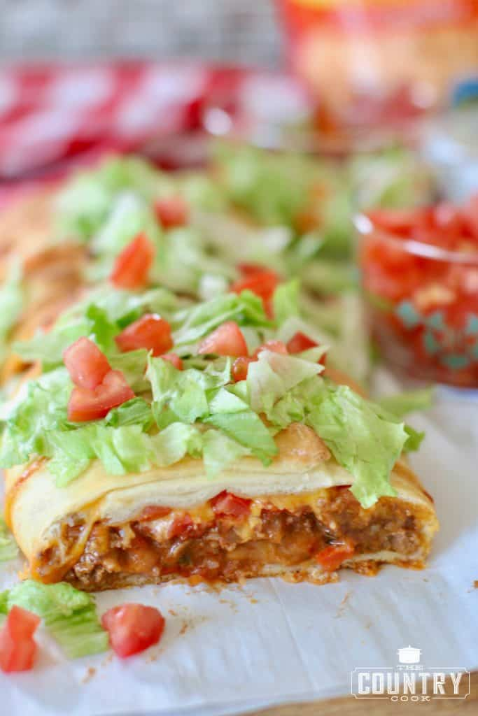 Fiesta Taco Braid recipe from The Country Cook