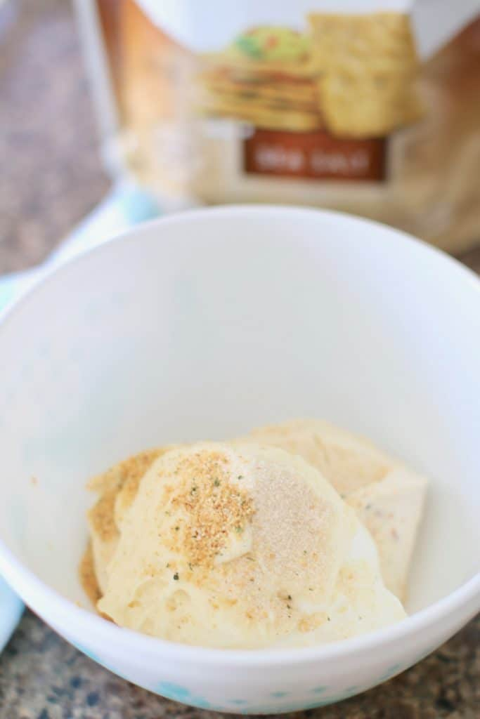 vegetable cream cheese, sour cream mayonnaise, onion powder, garlic powder