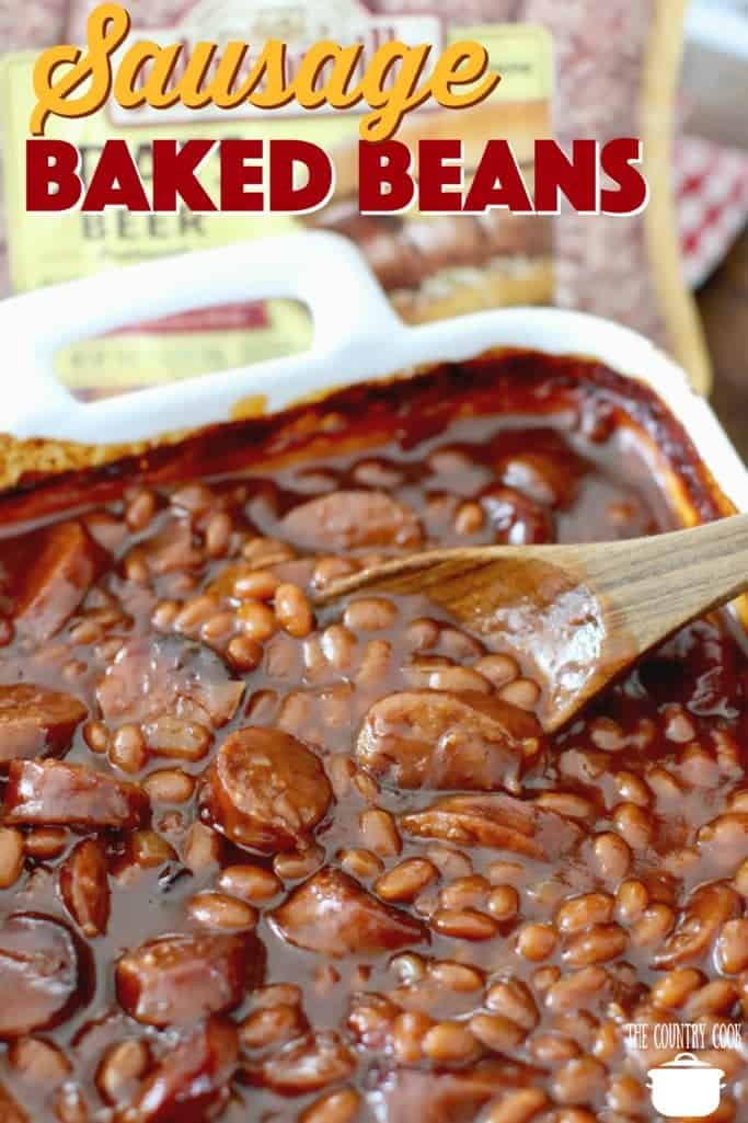 Easy Sausage Baked Beans recipe from The Country Cook