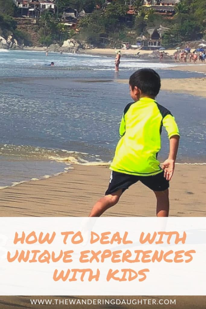 How To Deal With Unique Experiences With Kids | The Wandering Daughter |  Stumbling upon a clothing optional beach in Mexico, we share how we deal with unique experiences with kids when we travel. #uniqueexperiences #familytravel