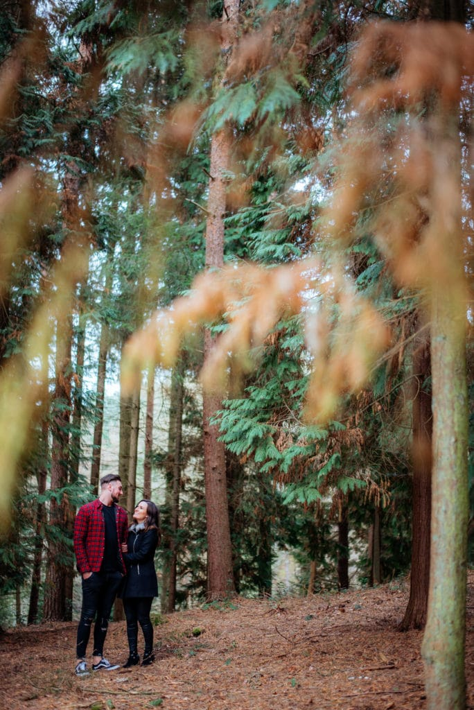 Cute couples photoshoot Chantry Woods Guildford