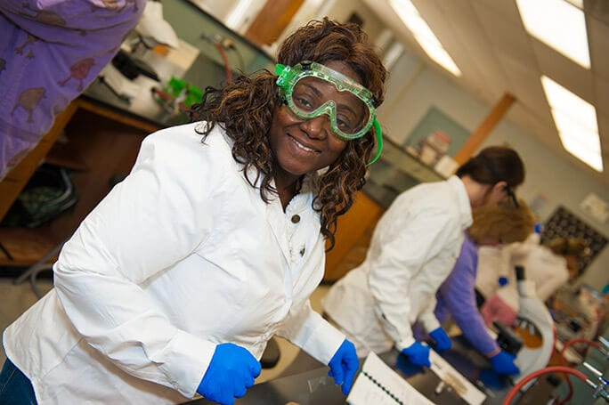 Woman In Science Lab