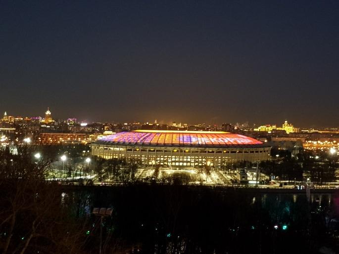 Stade Loujniki vue de nuit