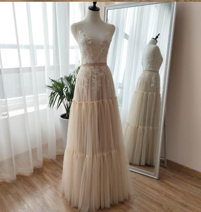 AliExpress Cheap Designer Wedding Dresses Bridal Gown Boho Dreamy Replica 1