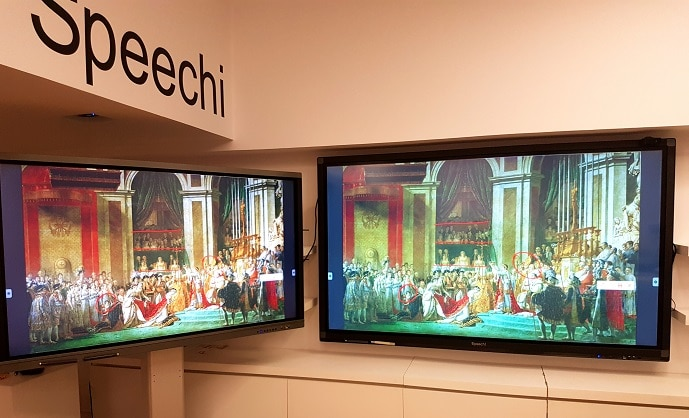 Port HDMI out de l'écran interactif tactile Speechitouch