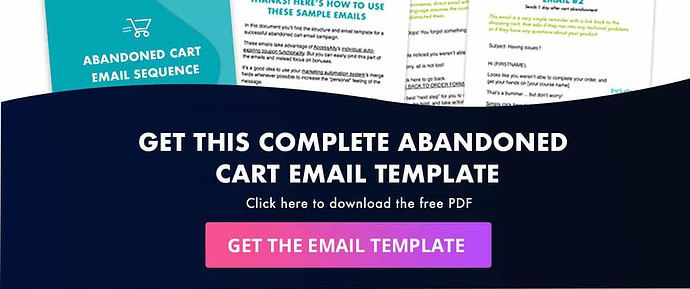 Click to get the abandoned cart email template