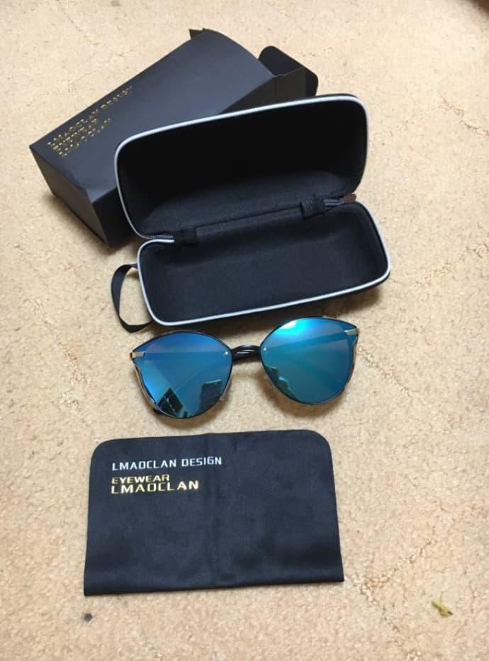 fake sunglasses replica shades aviator glasses knockoff LMAOCLAN 1 Blue lenses