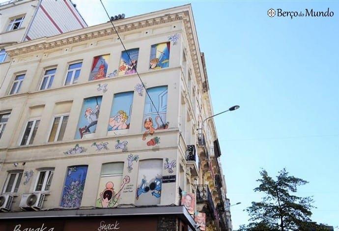 A Comic route é uma linda forma de conhecer Bruxelas
