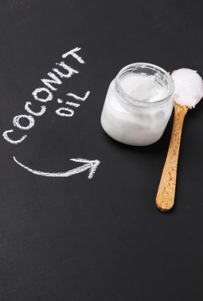 jar of coconut oil on a table