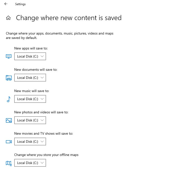 change where new content is saved