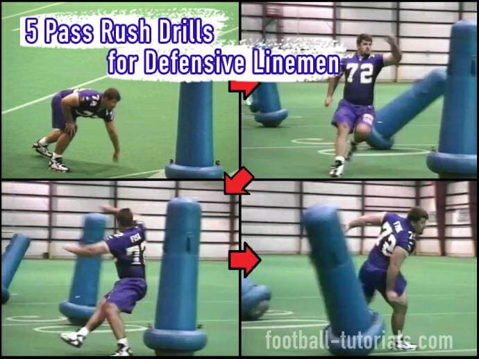 5 Pass Rush Drills for Defensive Linemen